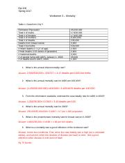 Worksheet 3 Answers