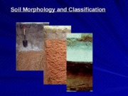 Lecture 15 Soil Morphology and Classification