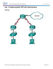 CCNA4 Lab 3.3.2.8 Configuring Basic PPP with Authentication.pdf