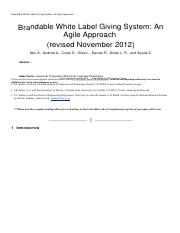 Brandable White Label Giving System- An Agile Approach g.docx