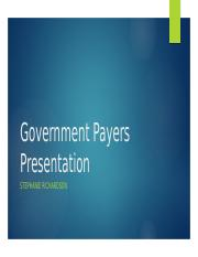 Government Payers Presentation