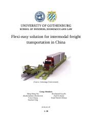 Flexi-easy solution for intermodal freight transportation (final)