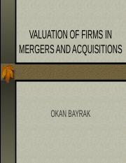 VALUATION OF FIRMS in merger.ppt