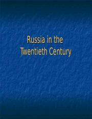 PP 1.1 Intro Russia in the 20th Century