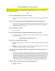 History 1003-Ch.18 Reading Guide