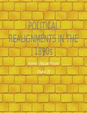 FH APUSH Chapter 20-Political Realignments in the 1890s (1)