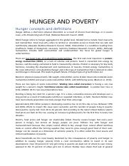 HUNGER AND POVERTY.docx