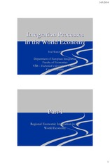 Integration Processes in the World Economy_Groningen 2014