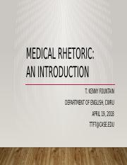 Fountain Introduction to the Rhetoric of Medicine (4.19.2018).pptx