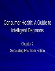 Consumer Health-Chap.2.ppt