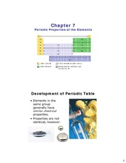 Chapter 7 - Periodic Properties of the Elements