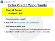 Extra Credit Opportunity 8