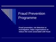 Fraud Prevention Programme