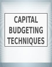 Capital Budgeting techniques.pptx