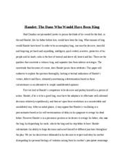 psychoanalytic essay on hamlet