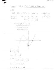 Sketching Polynomial Functions in Standard Form Note