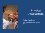 Physical Assessment Lecture fall 2013Mondaystudent version
