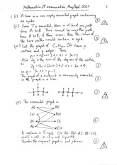 Answers to Mathematics 2P Sample In-course Exam(2) (Solutions)