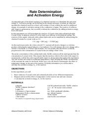 activation energy lab 4 procedure.doc