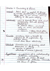 Chapter 4 Vocabulary of science Notes