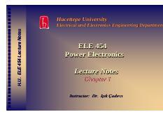 ele454ch1 pdf - Hacettepe University H U ELE 454 Lecture