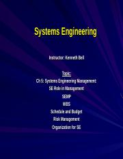 5-Systems Engineering Management.ppt