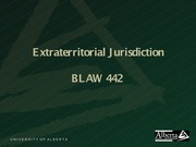 Extraterritorial Jurisdiction