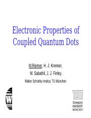 Electronic Structure of Coupled Quantum Dots