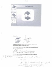 MATH 2210 - 13.6 Surface Area Lecture Material