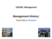 Week2 - Management History 2011(1)