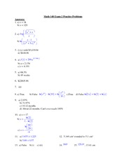 148 Exam 2 Practice Problems Answers