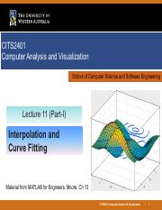Lec 11 - Interpolation and Curve Fitting