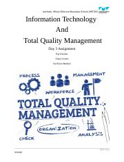 Information Technology  And  Total Quality Management.docx