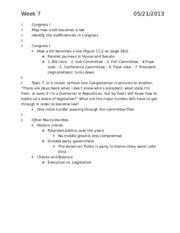 Political science 21A introduction to American politics discussion note for final