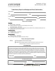 Credit History Report Authorization (2)