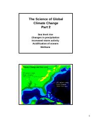 Global Climate Change Lecture Two Slides