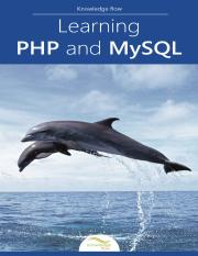 Learning PHP and MySQL by Knowledge flow - 2015