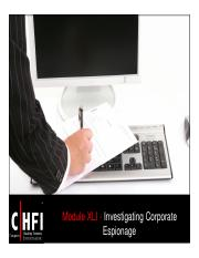 CHFI v4 Module 41 Investigating Corporate Espionage