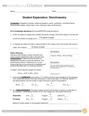 Answers_To_Stoichiometry_Gizmo_Explore_Learning.cleaned (2 ...