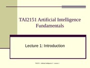 13121_Lecture01 Introduction to Artificial Intelligence