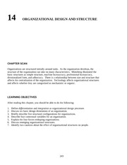 Chapter 15 Organizational Design and Structure  teacher resources  nqimch14