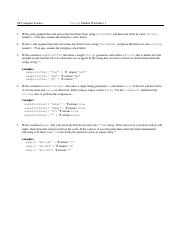 APCS - Worksheet 1 - Exercises with Strings Worksheet