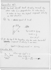 kinematics 2 and 3 more solutions