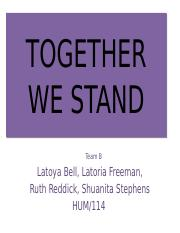 together we stand hum114 wk4