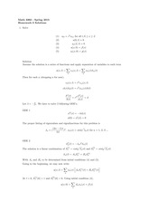 Homework 3 Solution on Introduction to Partial Differential Equations Spring 2015
