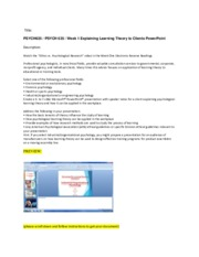 285686957-PSYCH635-PSYCH-635-Week-1-Explaining-Learning-Theory-to-Clients-PowerPoint