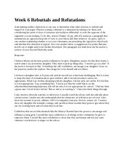 Week 6 Rebuttals and Refutations 3.5.docx