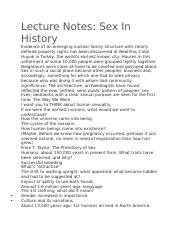 Lecture Notes- Sex in History .docx