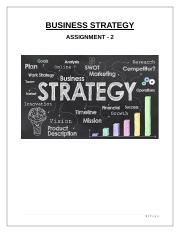 Business Strategy -Assignment 2