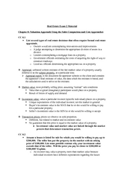 Real Estate Exam 2 Study Guide